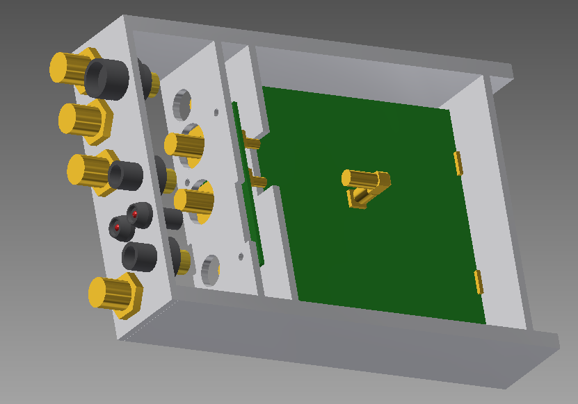 3D rendering of the preliminary case layout for the Dish Front-End.
