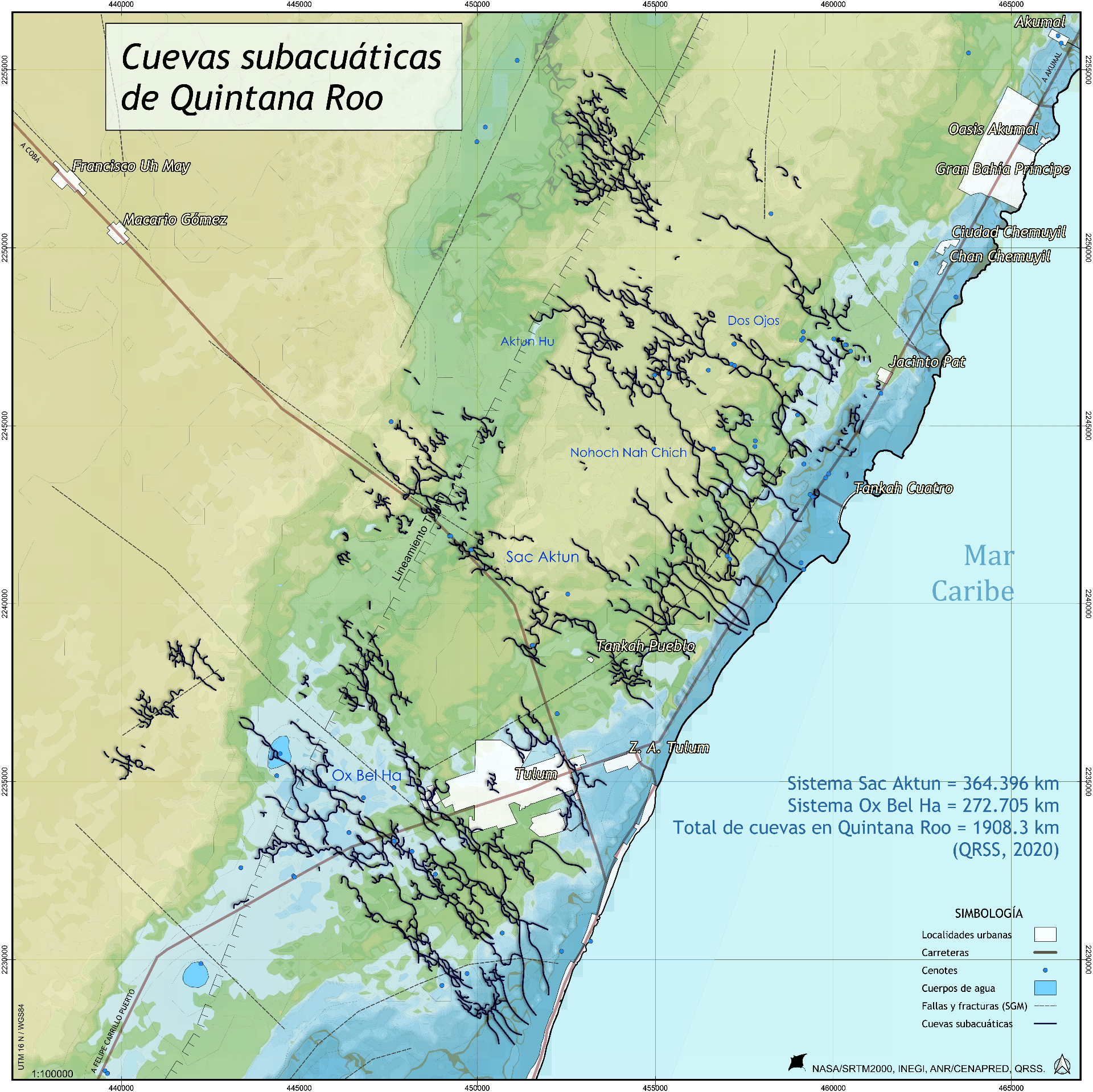 Cuevas subacuáticas de Quintana Roo