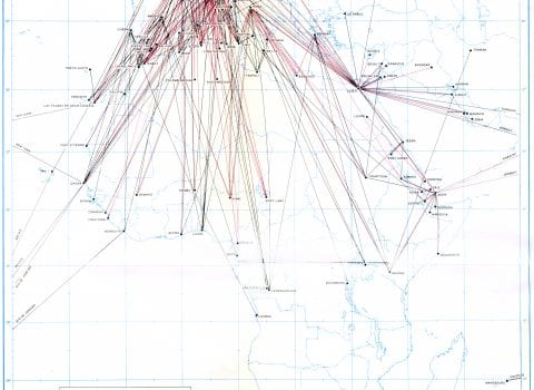 Air Routes Linking Points in Africa Directly with Other Regions