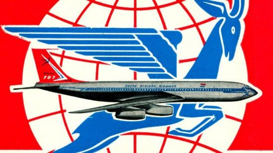 South African Airways timetable 1965