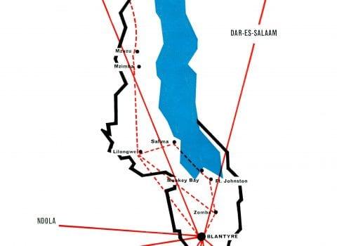 Air Malawi 1969 route map