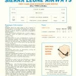 Sierra Leone Airways timetable