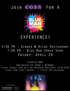 blue man group flyer