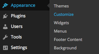 Theme customization in WordPress