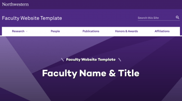 Faculty Template
