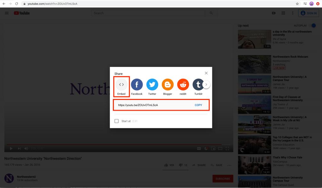 Adding video via Youtube