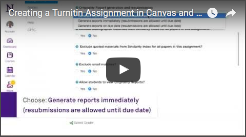 Documentation and Instructions on using Turnitin in Canvas