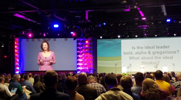 Susan Cain speaking at Educause conference