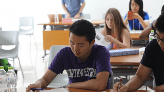 Northwestern students studying abroad in China