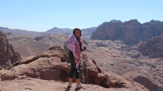 Kate Salvidio studies abroad on an affiliated program in Amman, Jordan