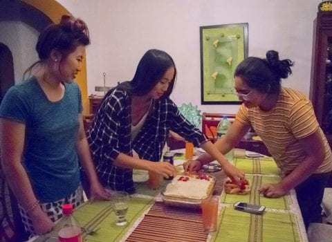 Homestay cooking image