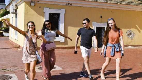 Northwestern students studying abroad in Serbia and Bosnia-Herzegovina