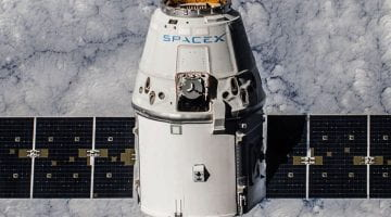 SpaceX Dragon Spacecraft in orbit around Earth