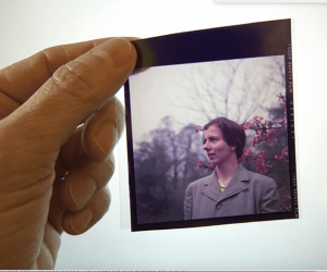 Vivian Maier photograph held by hand