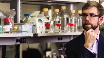 Mike Jewett in lab