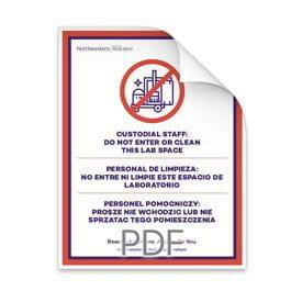 Custodial Do Not Enter Poster