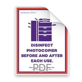 Disinfect Photocopier Before and After Each Use