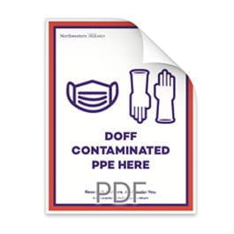 Doff Contaminated PPE Here Poster
