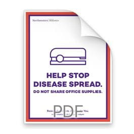 Help Stop Disease Spread. Do Not Share Office Supplies