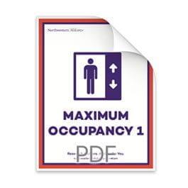Maximum Occupancy 1 Person in Elevator Poster