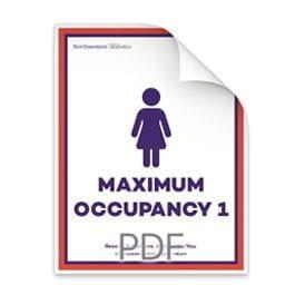 Maximum Occupancy 1 Woman in Bathroom Poster
