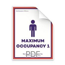 Maximum Occupancy 1 Man in Bathroom Poster
