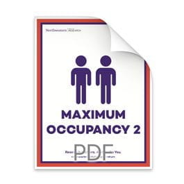 Maximum Occupancy 2 Men in Bathroom Poster