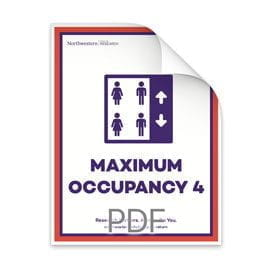 Maximum Occupancy 4 Persons in Elevator Poster