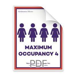 Maximum Occupancy 4 Women in Bathroom Poster