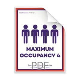 Maximum Occupancy 4 Men in Bathroom Poster