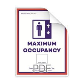 Maximum Occupancy Blank Number Box in Elevator Poster