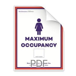 Maximum Occupancy Blank Number or Women in Bathroom Poster