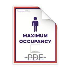 Maximum Occupancy Blank Number of Men in Bathroom Poster