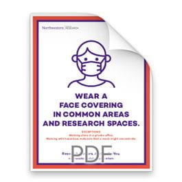 Wear a Face Covering in Common Areas and Research Spaces