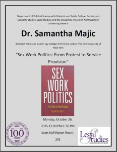 "Poster for ""Sex Work Politics:  From Protest to Service Provision"""