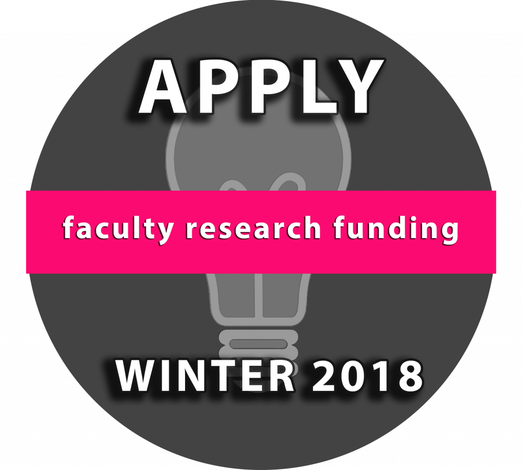 Faculty research funding: Apply Winter 2018