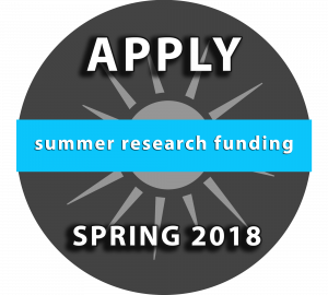 Summer Research Funding: Apply Spring 2018