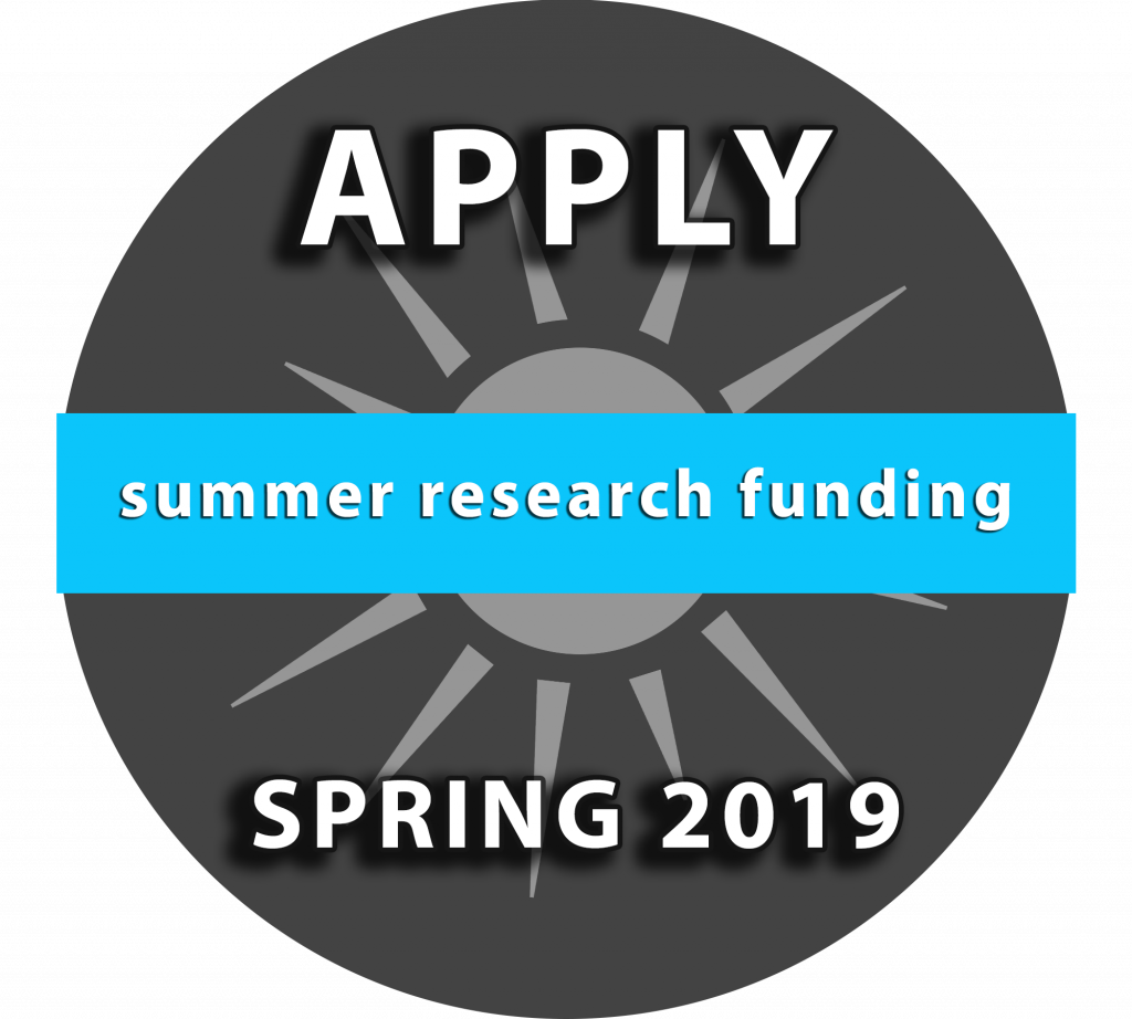 Summer Research Funding: Apply Spring 2019
