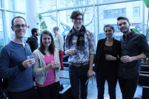 Attendees at the reception after Gayle Rubin's keynote