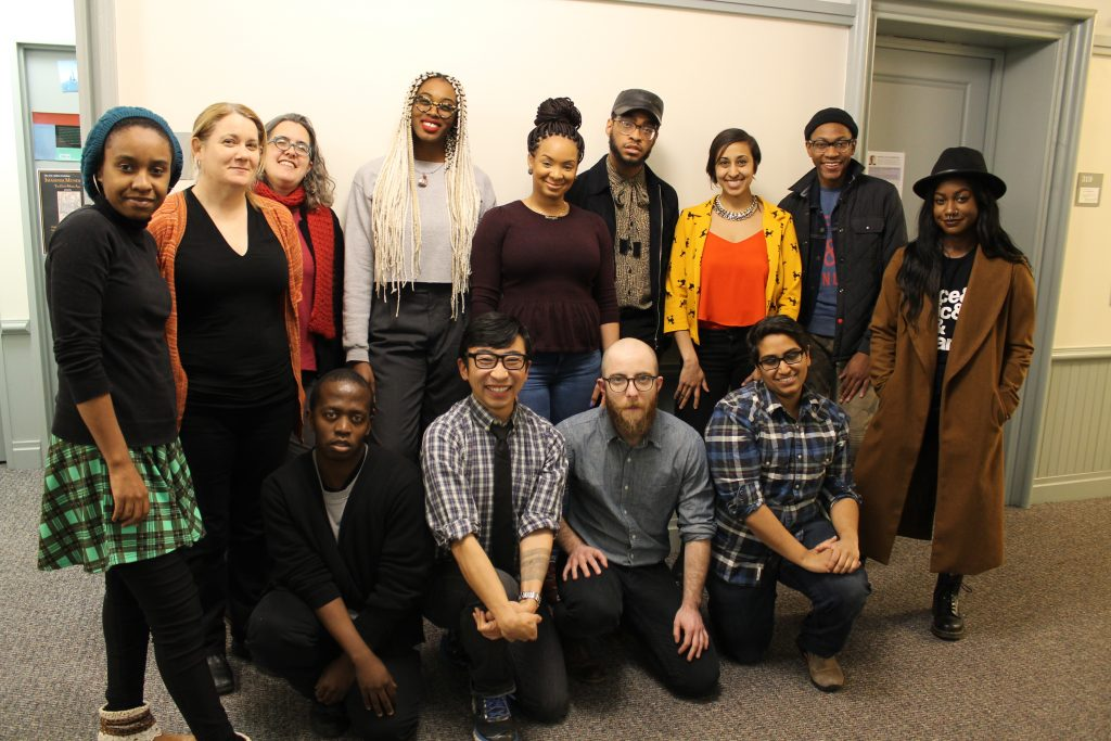 Back Row: Morgan Clark, Amy Partridge, Rebecca Zorach, Chelsea Frazier, Shoniqua Roach, Julian Glover, Mitali Thakor, Kenneth Pass, Tay Glover. Front Row: Mlondolozi Zondi, Douglas Ishii, AJ Lewis, V Chaudhry. Not shown here: Leslie Harris, Patricia Nguyen, Aaron Norton, Mary Weismantel