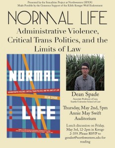 """Poster for """"Normal Life"""" by Dean Spade"""
