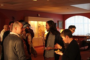 Mingling after the keynote