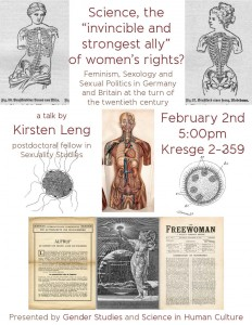 "Poster for ""Science, the 'invincible and strongest ally' of women's rights?"" by Kirsten Leng"