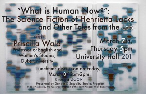 "Poster for ""What is Human Now?"" by Priscilla Wald"