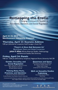 """Remapping the Erotic"" Poster. April 23-24, 2015."