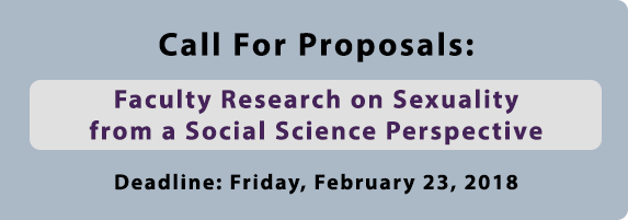 Call for Proposals: Faculty Research on Sexuality from a Social Science Perspective. Deadline: February 23, 2018