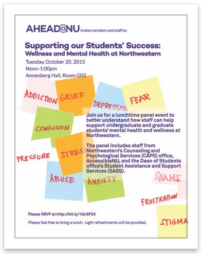 Student Wellness event