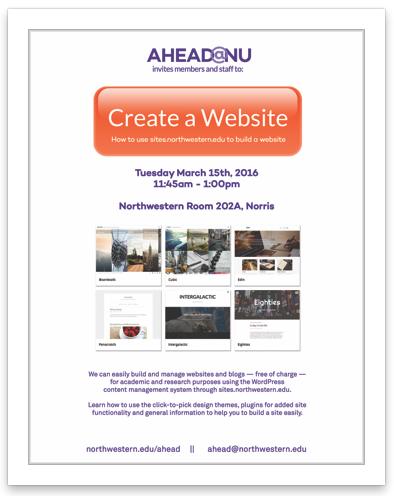Wordpress make a site event