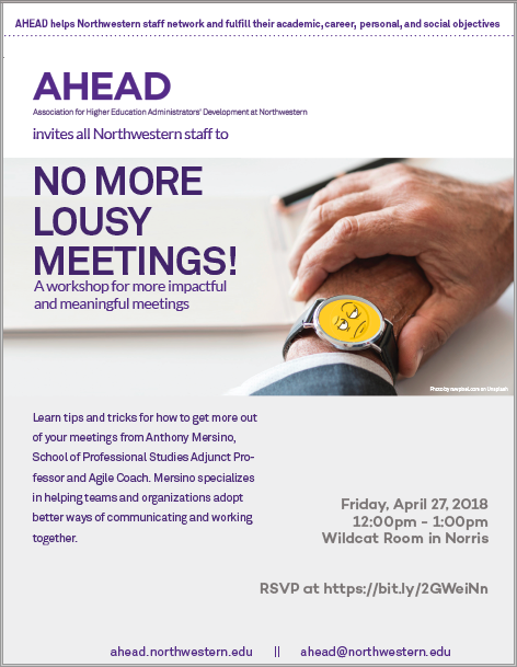 Lousy Meetings flyer