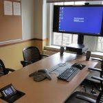Room 410 desktop and TV
